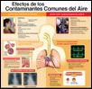 Efectos de los contaminantes comunes del aire--cartel médico thumbnail