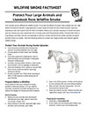Protect Your Large Animals and Livestock from Wildfire Smoke Factsheet