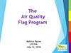 Cover for Air Quality Flag Program