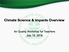 Cover from Climate Science and Impacts Overview