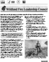 Cover for Wildland Fire Leadership Council