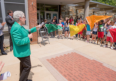 Flag event at the Goding School-Within-School in Washington, DC
