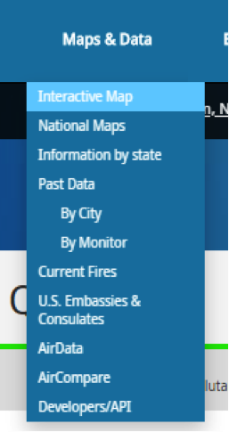 interactive map dropdown